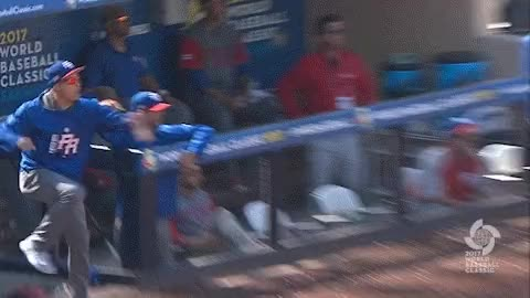 Watch WBC Baseball - Puerto Rico tacks on 5 more runs in the 7th to make it an 10-2 game.  @javy23baez's mood: hyped. #WBC2017 GIF by Baseball America (@baseballamerica) on Gfycat. Discover more related GIFs on Gfycat
