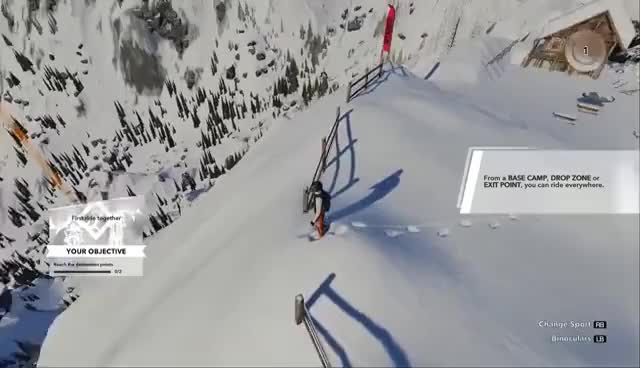 Watch and share Nerd³ Plays... Steep - Man Falls Down Hill GIFs on Gfycat
