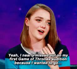Watch and share She Loves Animals GIFs and Maisie Williams GIFs on Gfycat