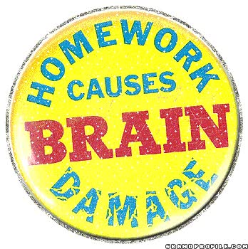 Watch and share Homework-Causes-Brain-Damage.gif animated stickers on Gfycat