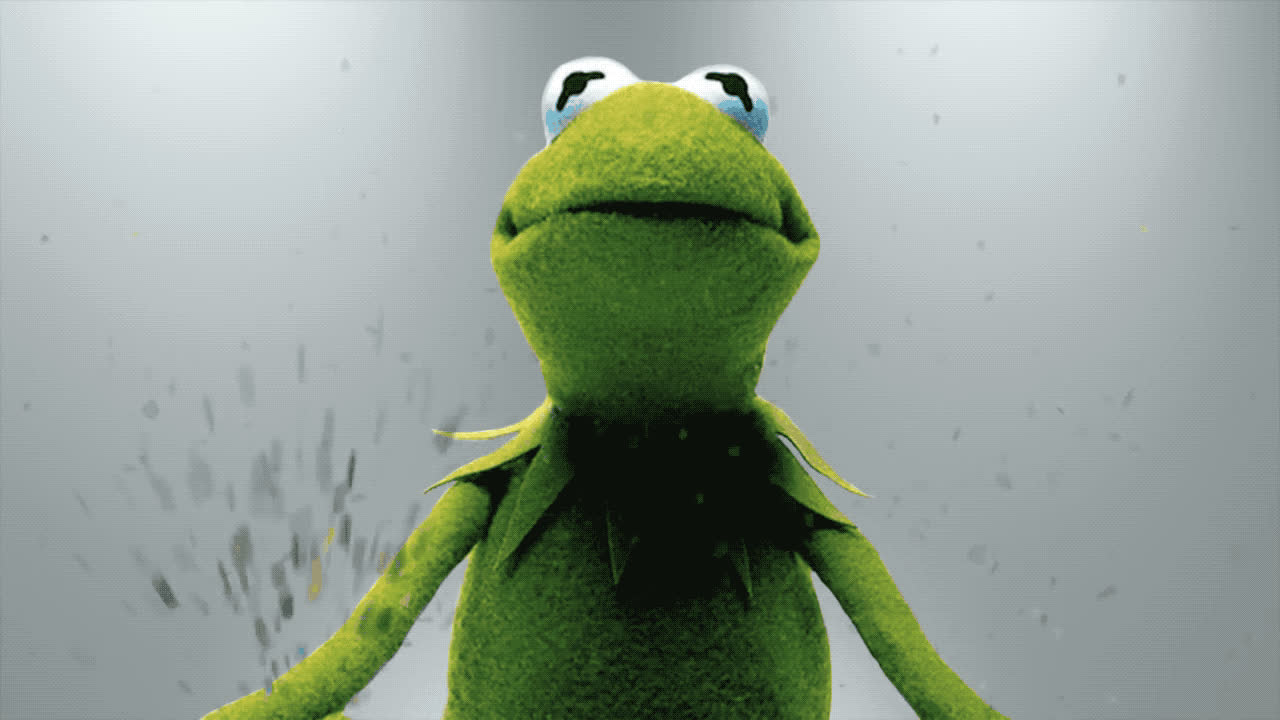 bday, birthday, celebrate, celebrating, confetti, excited, frog, happy, happy birthday, kermit, muppet, party, show, smile, tada, the, woohoo, yeah, yes, Kermit the frog - Celebrate GIFs