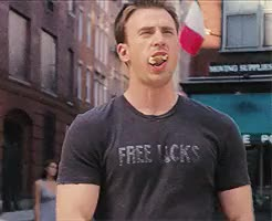 Watch Never Grow Up GIF on Gfycat. Discover more Chris Evans, I don't care, anna faris, captain america, chris pratt, free licks, gifs are not mine, handsome meatball, he's perfect, if it is, is that wrong?, sexy times, steve rogers, what's your number GIFs on Gfycat
