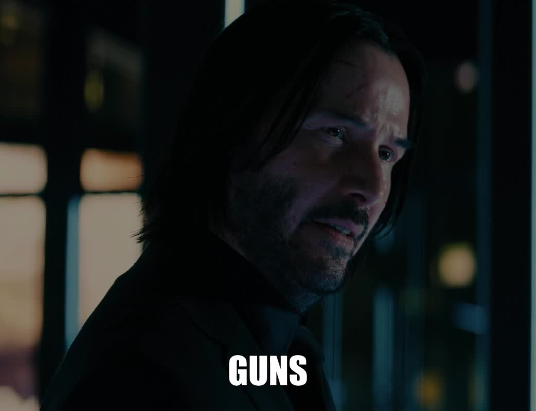 guns, john wick, john wick 3, john wick chapter 3, john wick chapter 3 parabellum, keanu reeves, matrix, the matrix, John Wick Keanu Reeves Guns Lots of Guns GIFs