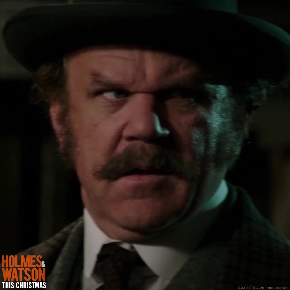 crazy, holmes & watson, holmes and watson, john c reilly, john watson, oh my god, oh my gosh, omg, scared, sherlock holmes, shocked, surprise, what, wow, John C Reilly Surprised GIFs