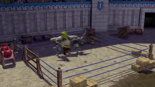 Watch and share Shrek Duloc Fight GIFs and Shrek Tag With Me GIFs by johnnyfalchion on Gfycat