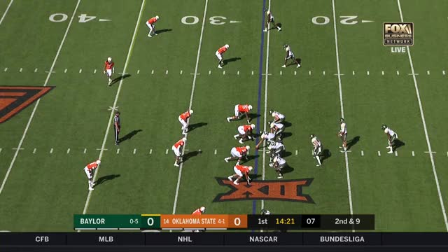 Watch and share 2017 NCAA Football Week 7: Baylor At Oklahoma State GIFs by Pistols Firing on Gfycat