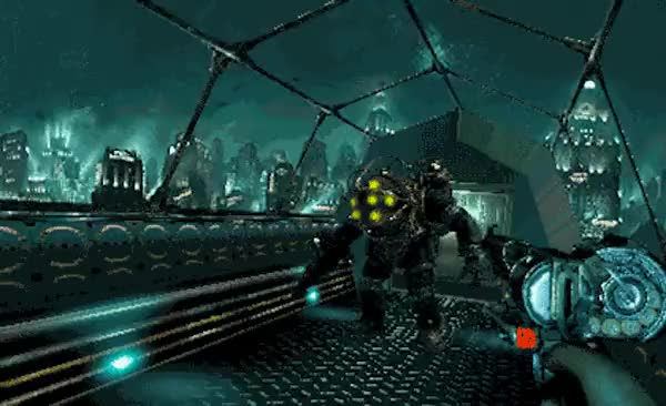 Watch and share Bioshock - PS1 Spoof Animation GIFs on Gfycat