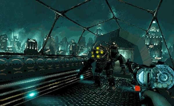 Bioshock - PS1 Spoof Animation GIFs