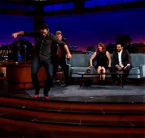 Watch Chris Pratt Runs In Heels GIF on Gfycat. Discover more Chris Pratt, James Corden, Jurassic World, The Late Late Show, jurassic park GIFs on Gfycat