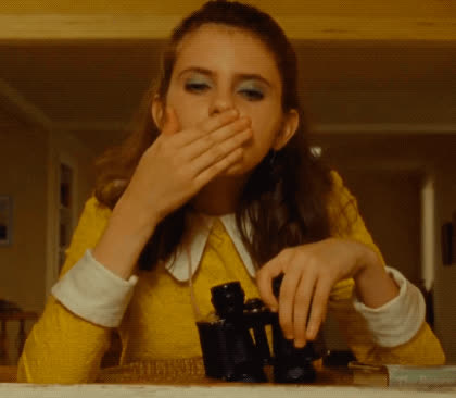 blow kiss, i love you, kiss, kisses, moonrise kingdom, wes anderson, Moonrise Kingdom - Blow Kiss GIFs