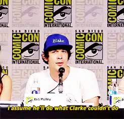 Watch Bob Morley on Bellamy S3 GIF on Gfycat. Discover more *, bellamy blake, bob morley, dailymorley, eliza taylor, gif, sdcc2015, the 100 cast, the100castedit, the100daily, the100sdcc GIFs on Gfycat
