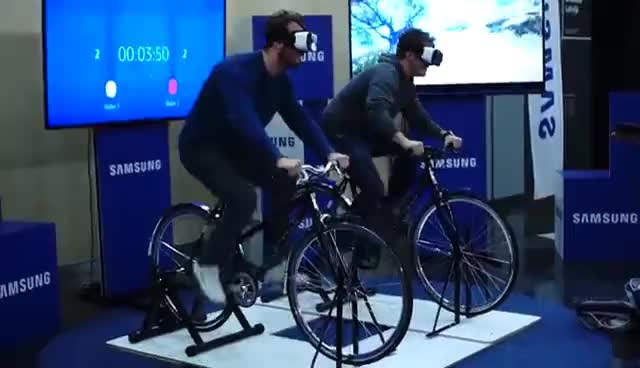 bicycle, virtual reality, vr, Virtual Reality Bicycle / Samsung / Overly 2016 GIFs