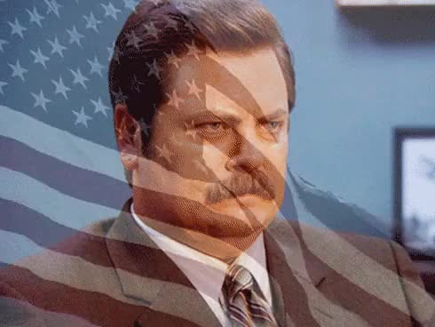 Watch this 4th of july GIF on Gfycat. Discover more 4th of july, america, fourth of july, gfycatdepot, holidays, independence day, july 4, july 4th, nick offerman, ron swanson, usa GIFs on Gfycat