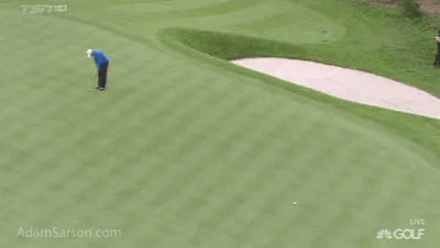 Watch and share Sergio Long Putt GIFs on Gfycat