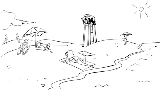 gfycatdepot, Alternate reason for the sinking of Titanic [Animation 3 lifeguards] (reddit) GIFs