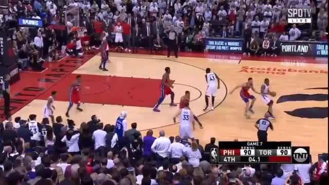 Watch and share Philadelphia 76ers GIFs and Toronto Raptors GIFs by 01100011 on Gfycat