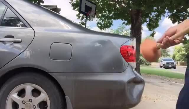 LifeHacks - Using Boiling Water to Get Car Dents Out GIFs