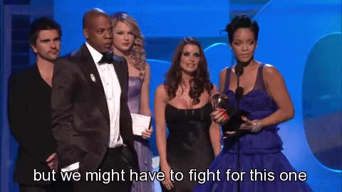 Watch this trending GIF on Gfycat. Discover more grammy, grammy awards, grammys, jay z, rihanna, the grammy awards, the grammys GIFs on Gfycat