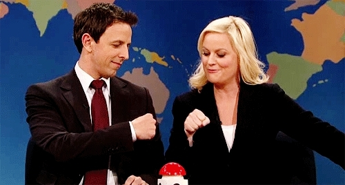 Seth Meyers, Fist Bump SNL GIFs