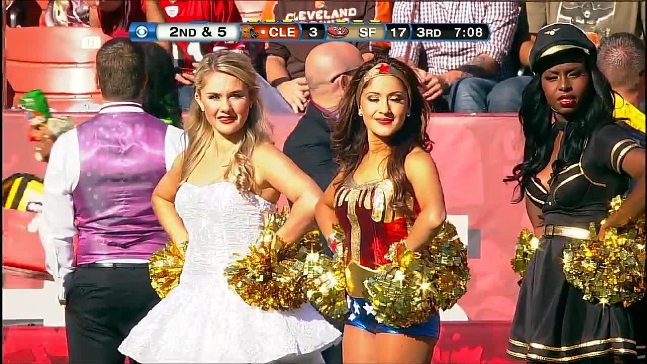 halloween, nfl, San Francisco 49ers cheerleaders GIFs