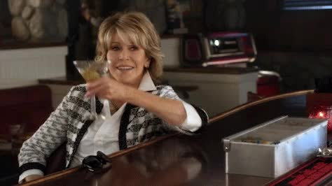 Watch and share Grace And Frankie GIFs and Cheers GIFs on Gfycat