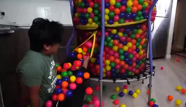 Watch and share TRAMPOLINE BALL PIT CANNONBALL! GIFs on Gfycat