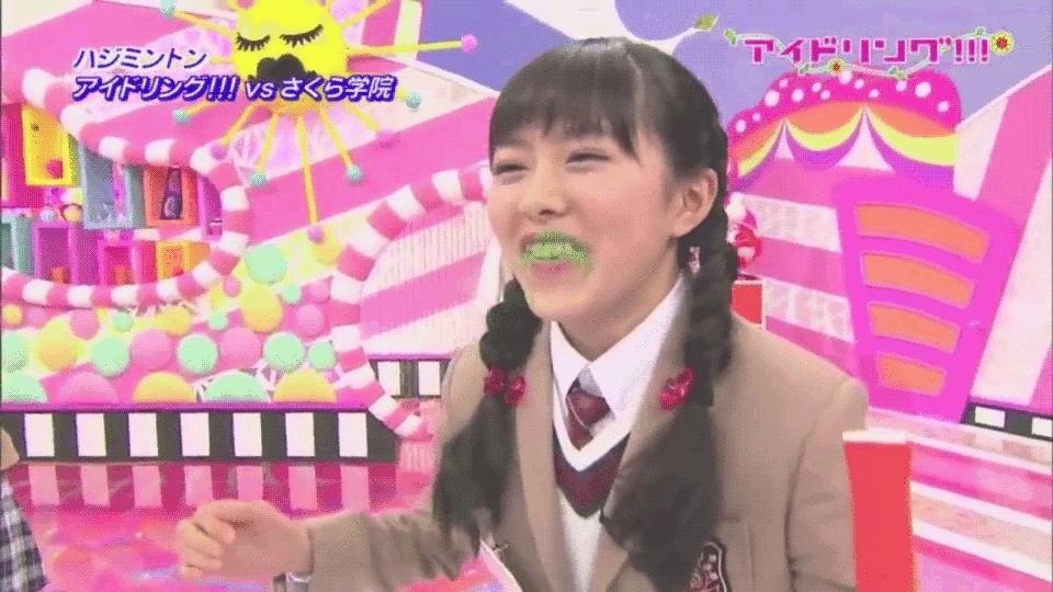 sakuragakuin, Marina Eating Green Powder GIFs