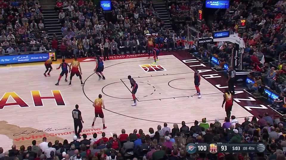 NBA, Joe Ingles_Attack close out OKC GIFs