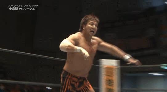 Watch and share LARIATOOOO!! - Rush Driver! #njcmll #NJPW #CMLL GIFs by Luis Fernando de Oliveira on Gfycat