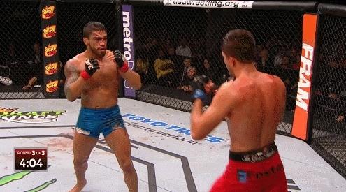 mmagifs, Brian Ortega vs Thiago Tavares - punch off the cage (reddit) GIFs