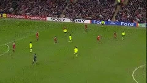 Watch and share Eidur Gudjohnsen. Liverpool - Barcelona. 06.03.2007 GIFs by fatalali on Gfycat