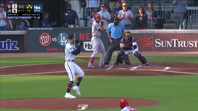Watch and share Braves First Inning GIFs and Cardinals Braves GIFs on Gfycat