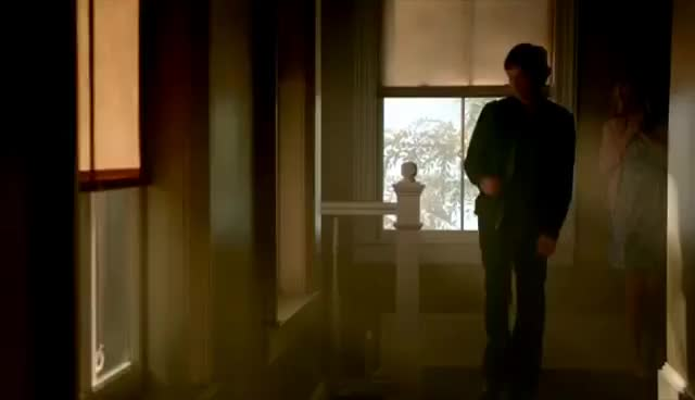 The Vampire Diaries: 8x02 - Damon attacks Caroline while she was talking with Josie and Lizzie [HD] GIFs
