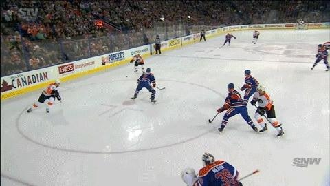 edmontonoilers, hockey, Ryan White (1) Slapshot - ASST: Brandon Manning (1) GIFs