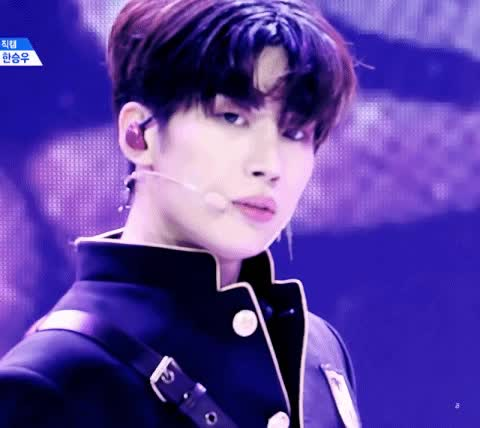 Watch and share Seungwoo Stare GIFs on Gfycat