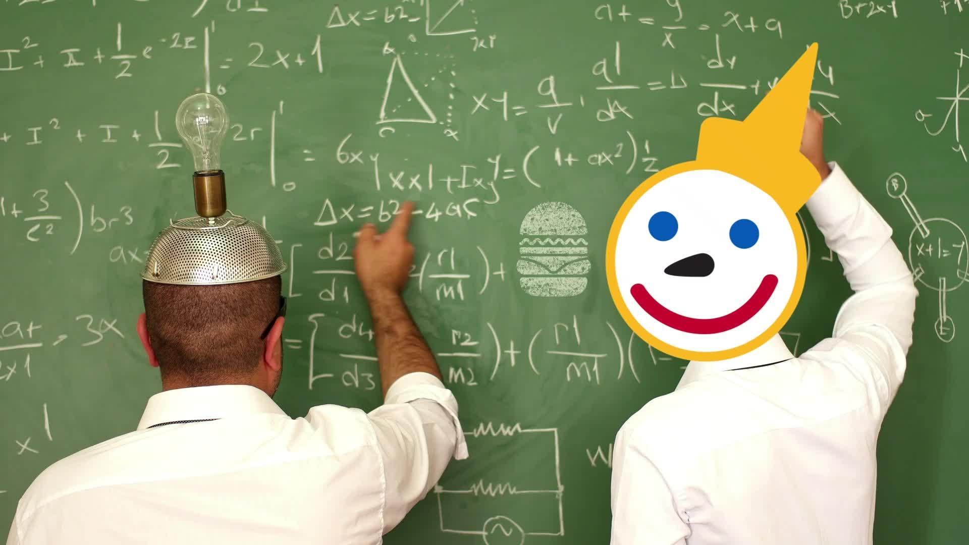 chalkboard, equation, eureka, genius, idea, jack in the box, light bulb, math, think, thinking, thought, Chalkboard Light Bulb Idea GIFs