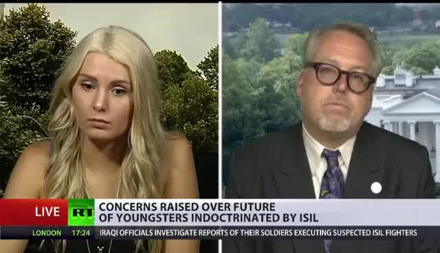 Watch and share Lauren Southern And Paul Kawika Martin Debates On RT International GIFs on Gfycat