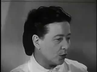 Watch Interview with Simone de Beauvoir (1959) GIF on Gfycat. Discover more related GIFs on Gfycat