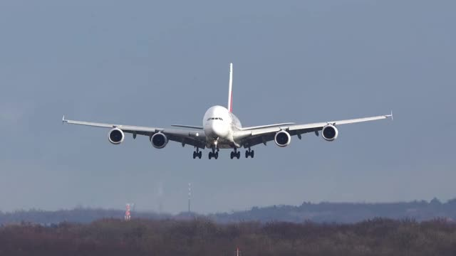 Watch and share Airbus A380 Landing GIFs and A380 Touchdown GIFs by DeeBrhm on Gfycat