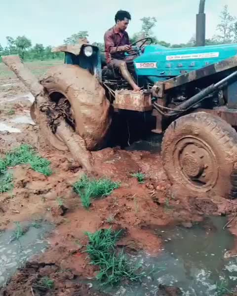 Watch Stuck in the mud GIF by Boojibs (@boojibs) on Gfycat. Discover more tractor, engineering GIFs on Gfycat