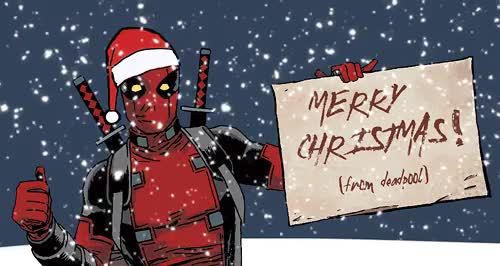 Watch let it snow GIF on Gfycat. Discover more *, 1k, :), I waited months to use this, comicedit, comics tag, deadpool, deadpooledit, marvel, marveledit, q, wade wilson, xmas GIFs on Gfycat