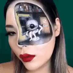 This intense optical illusion make up art