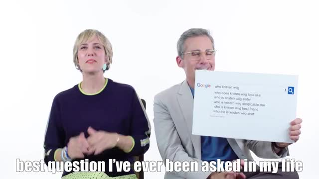 Watch and share Kristen Wiig And Steve Carell Answer Webs Most Searched Ques GIFs by Reactions on Gfycat