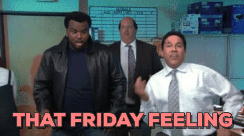 days of the week, friday, fridays, tgif, the office, That Friday Feeling GIFs