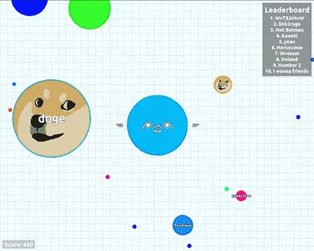 Perfectly planned Doge Trap : Agario GIFs