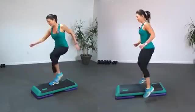Watch and share HIIT The STEP 2 - Cardio Workout For Serious Fat Burning GIFs on Gfycat