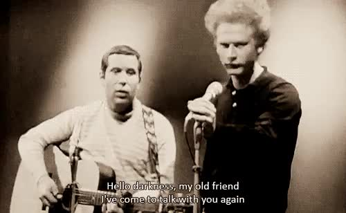 Watch and share Simon And Garfunkel GIFs and Sound Of Silence GIFs on Gfycat
