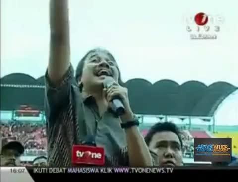 Roy Suryo (MENPORA) Salah Lirik Lagu Indonesia Raya