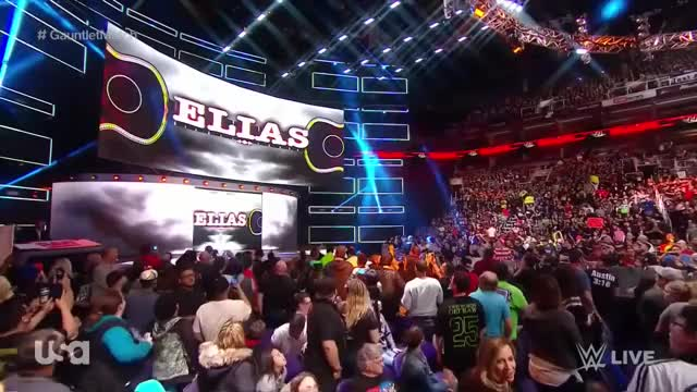 Watch and share Elias' 1st Ever Televised Entrance - RAW: Feb 19. 2018 (HD) GIFs on Gfycat