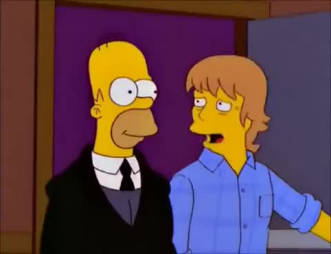 Watch and share Homer The Bodyguard GIFs on Gfycat